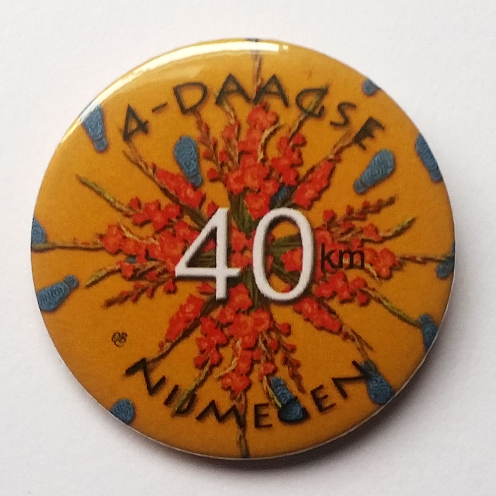 4daagse button 40 km