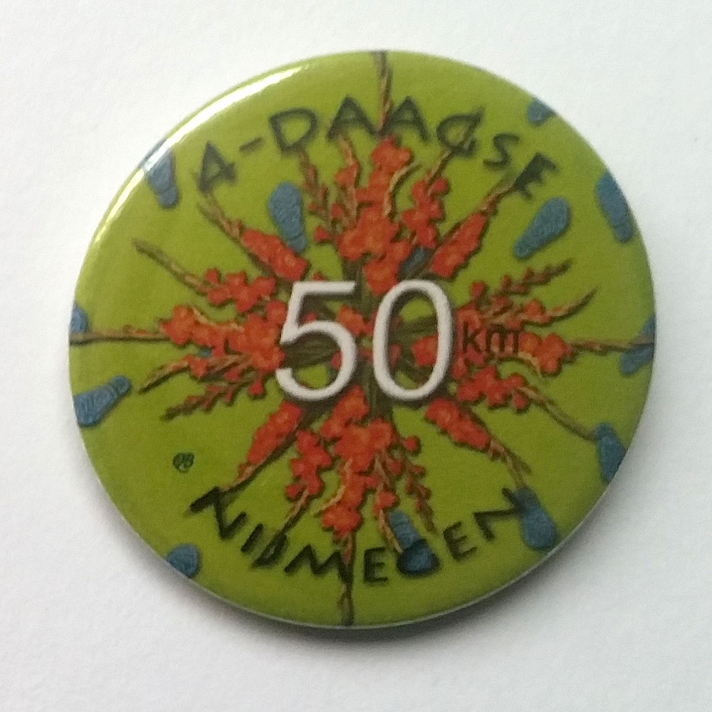 4-daagse button 50 km